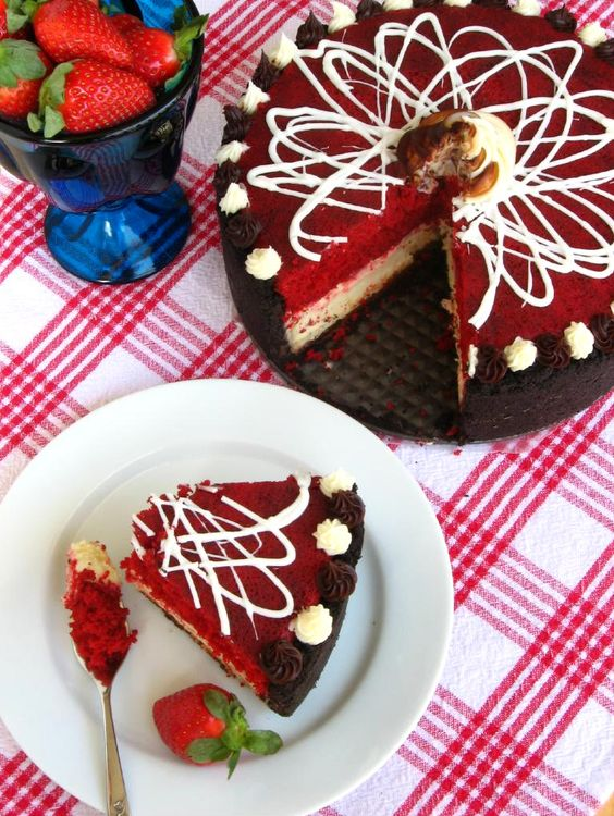 red velvet cake with cheesecake layer