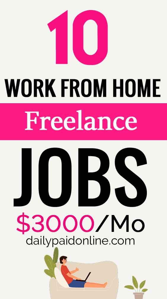 10 Best Work From Home Freelance Jobs Make Upto 8000 Month Online Depending On Your Effort And Skills Proofreading Jobs Real Online Jobs Legit Work From Home