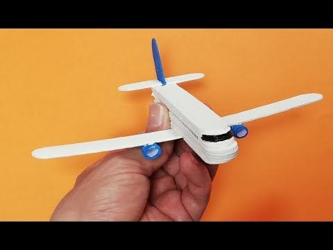 How To Make A Plane From Popsicle Sticks Boeing 737 Youtube Popcycle Stick Crafts Kids Airplane Crafts Plane Crafts