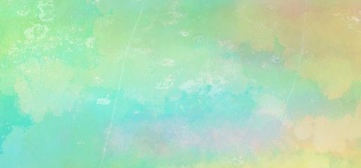 Blue Green Watercolor Background In Easter Or Spring Colors With