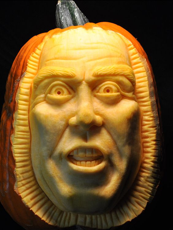This pumpkin is just another example of how Scott uses the human face as inspiration to carve -- with amazing detail -- an old man's face.
