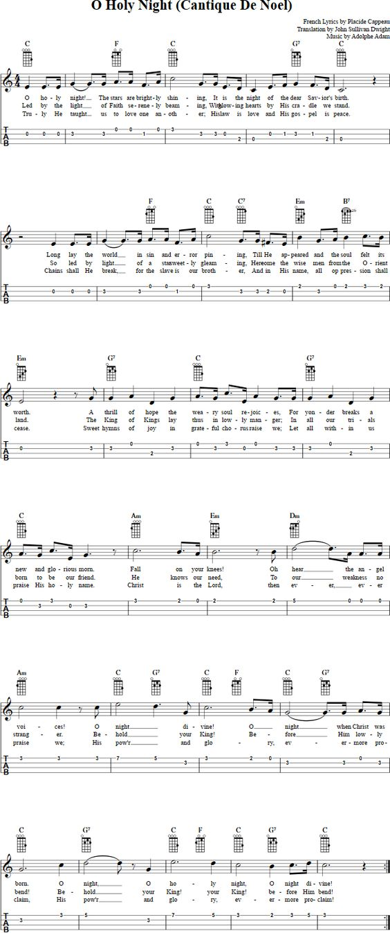 oh holy night free sheet music pdf
