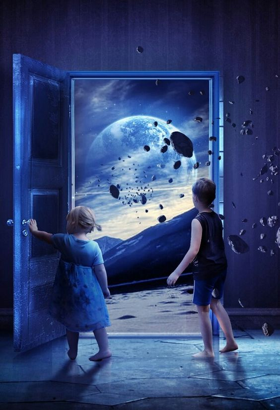 """Open the door of your Being and let the universe in."" ~Heather K. O'Hara (Art: Martina Stipan) ..*"