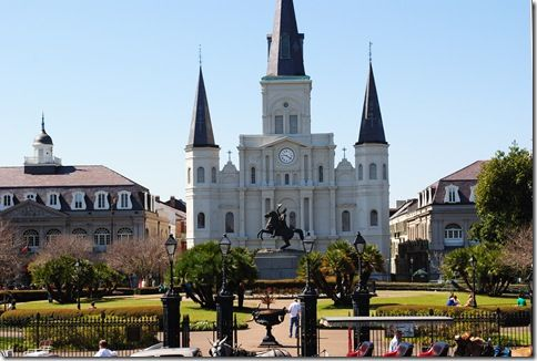 St. Louis Cathedral, Jackson Park in New Orleans