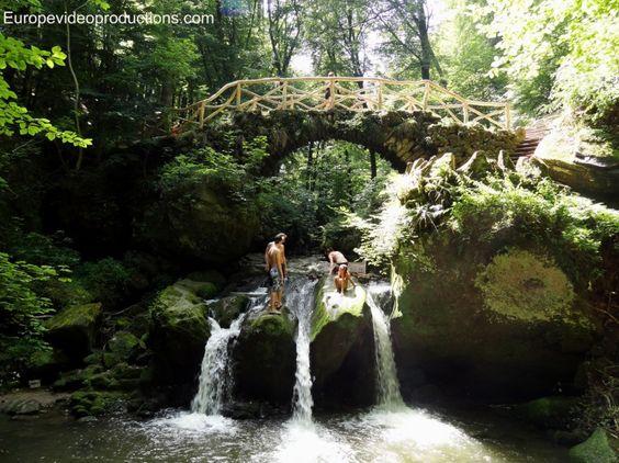 Wasserfall von Schissentûmpel in Müllerthaler Region im östlichen Teil Luxemburgs