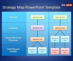 Free Strategy Map PowerPoint Template is a business PPT template ...