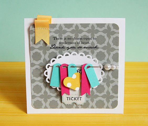 Make your own mini tags.