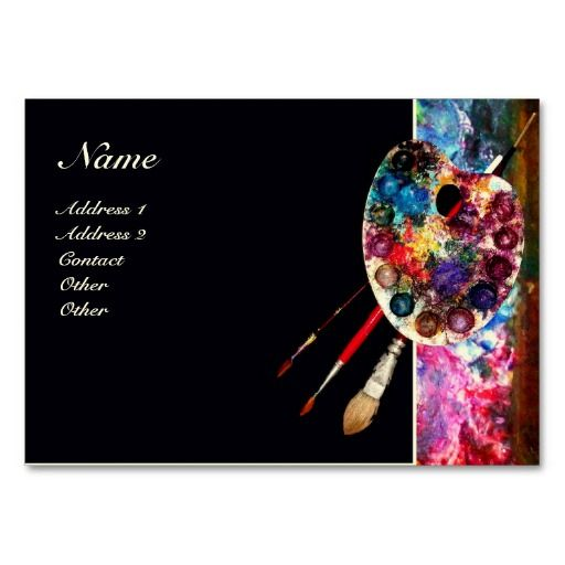 Painter artist fine art and painters on pinterest for Artist business card template