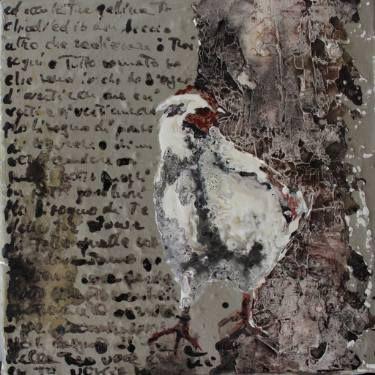 """Saatchi Art Artist Donatella Marraoni; Painting, """"la tua gallina...il tuo muro"""" #art"""