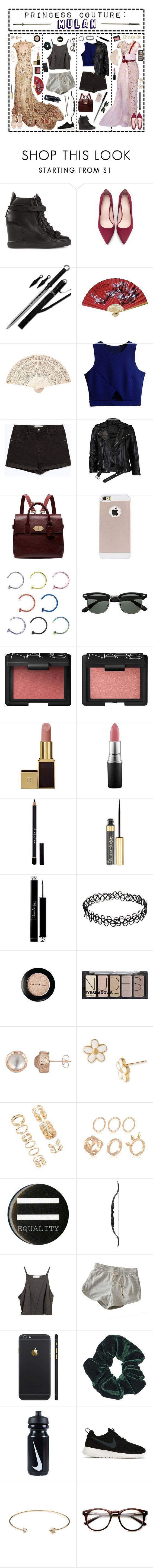 """- ̗̀ Princess Couture: Mulan  ̖́-"" by i-get-a-little-bit-breathless ❤ liked on Polyvore featuring Zuhair Murad, Giuseppe Zanotti, Zara, VIPARO, Mulberry, NARS Cosmetics, Tom Ford, MAC Cosmetics, Givenchy and Yves Saint Laurent"