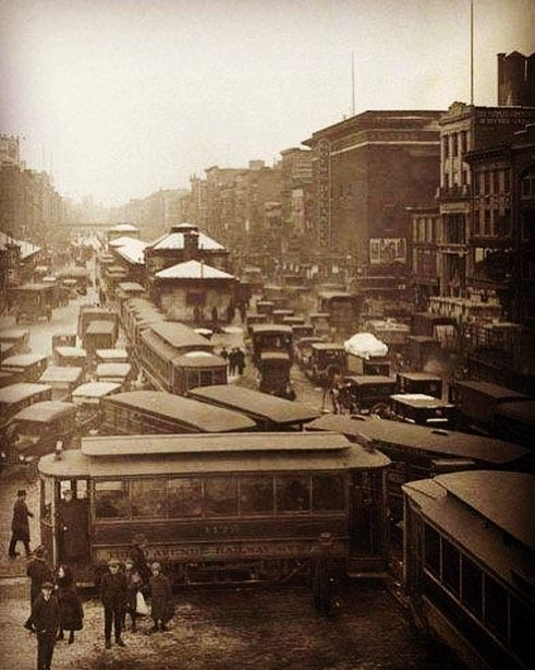Traffic Jam In New York City 1923 New York City Vintage New York New York Pictures
