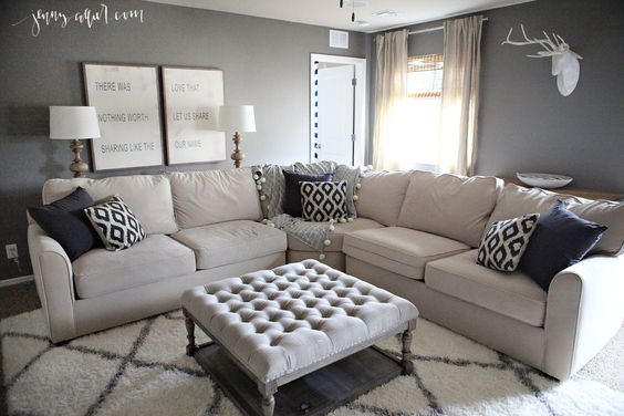 Best Ottomans Tan Curtains And Living Rooms On Pinterest 400 x 300