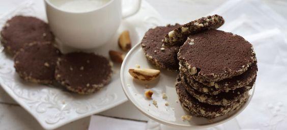 Receita saudável para seus filhos de cookie integral com castanha do pará. Uma…