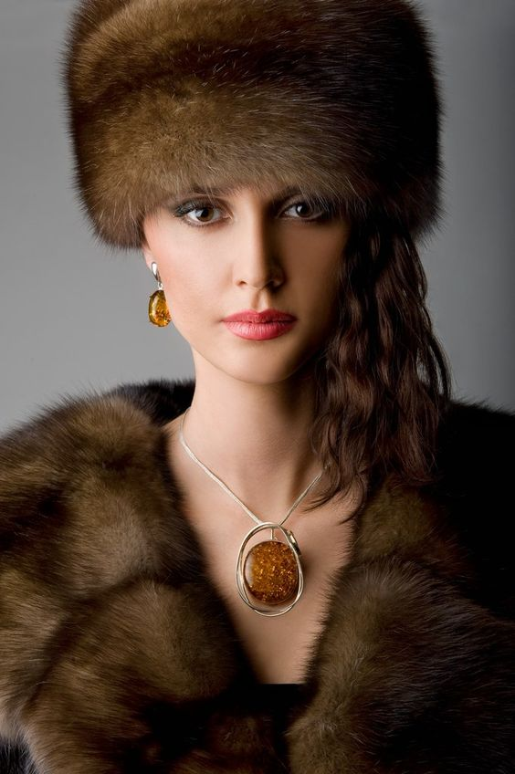 Fur hats, Fur and Amber jewelry on Pinterest