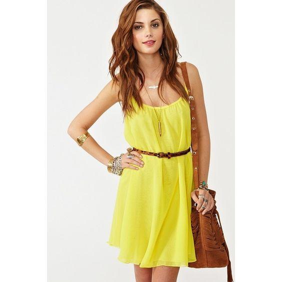 Sunny Side Dress ($29) ❤ liked on Polyvore