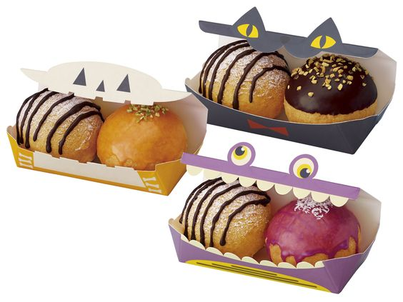 オバケや黒猫がドーナツをパクリと食べちゃった! ミスドのハロウィーン・ドーナツは心ときめくミニボックスに入ってます♪
