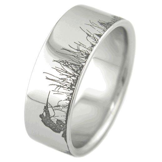Men S Laser Carved Anium Ultimate Deer Hunting Ring