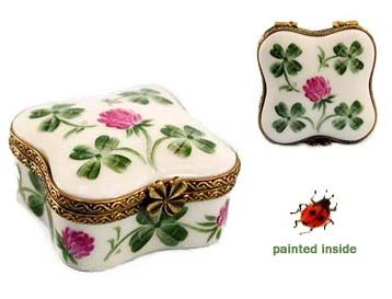 Chamart Lucky Irish Shamrock Limoges Box