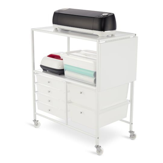 White Essex Cart By Recollections Michaels Cricut Craft Room