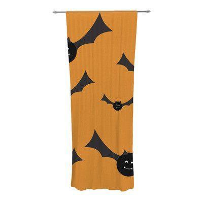 KESS InHouse Going Batty Curtain Panels