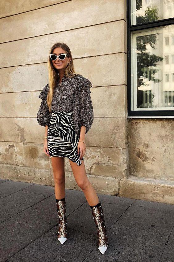 Faldas de moda de leopardo, pitón, cebra: cómo llevarlas con estilo y cómo no - InStyle