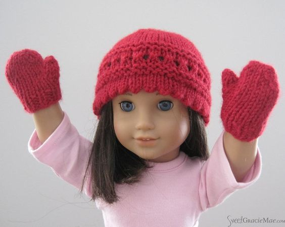 Simple Knitted Doll Patterns : Pattern: Easy Doll Mittens Yarnsticks Knitting Patterns ...