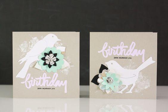 Geburtstagskarten mit Vögelchen für Sizzix UK    Creative Blogger Julia Klein • Birthday Cards with a cute bird for Sizzix UK   #diecutting #sizzix #sizzixplus #cardmaking #bigzdie #bird #greetingcard #flowers