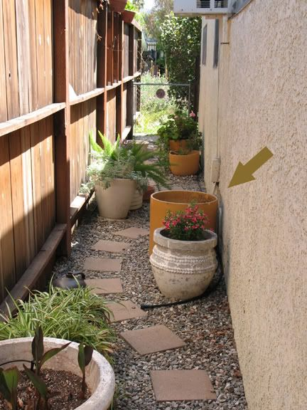 Side yards narrow garden and yards on pinterest for Small side yard design