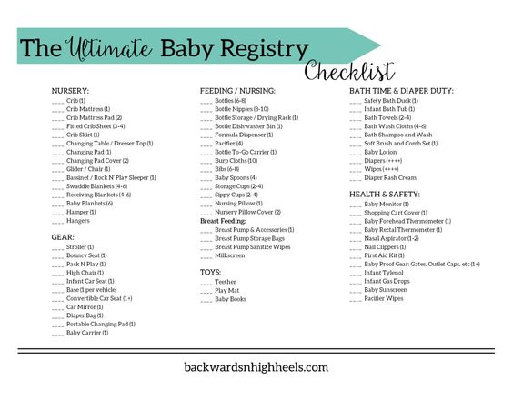 The Ultimate Baby Registry Checklist. All of the must have baby ...