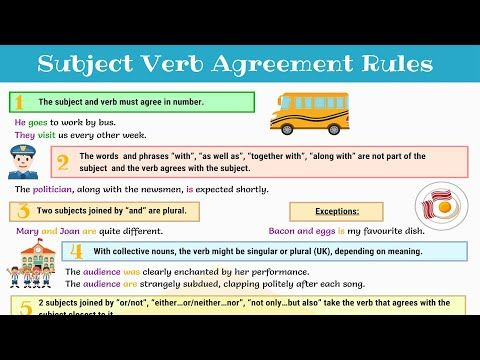 Subject Verb Agreement Rules And Useful Examples 7 E S L Subject Verb Agreement Subject Verb Subject Verb Agreement Rules