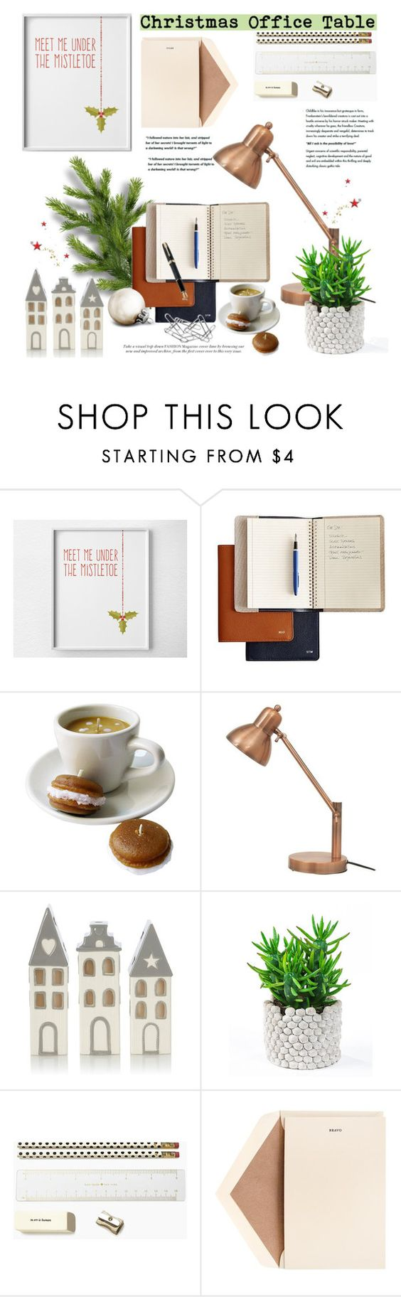 """""""Christmas Office Table"""" by deeyanago on Polyvore featuring interior, interiors, interior design, home, home decor, interior decorating, Fountain, Kate Spade, Dempsey & Carroll and Home Decorators Collection"""