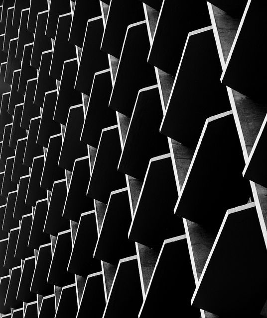 Geometric patterns in architecture with graphic shape