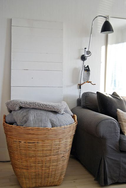 Baskets Living Rooms And Cozy Blankets On Pinterest
