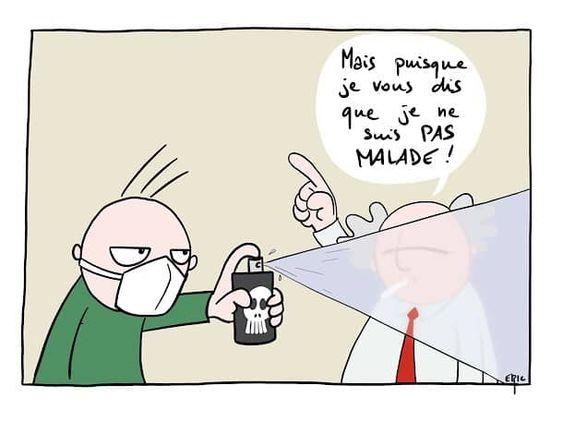 Ne cédons pas à la panique – image drole humour Webcomics par Éric thi…