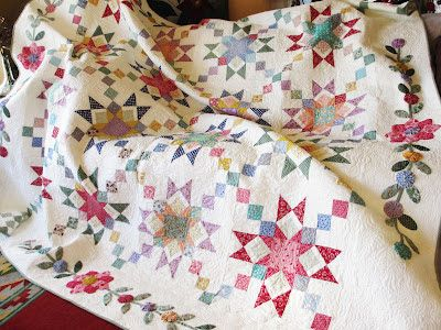 Fabric of My Life: Been quiet, been quilting...need a break!
