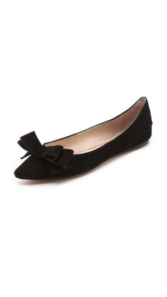 Suede bow flats. #flats #suede