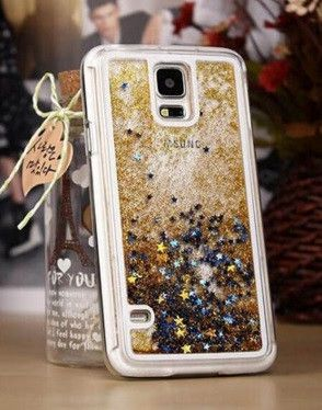 Glitter Star Flowing Liquid Clear Cases for Samsung Galaxy S5