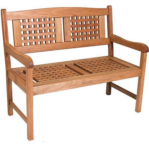 Portoreal Fsc Eucalyptus Wood Outdoor Bench Walmart Com In 2020 Outdoor Rocking Chairs Garden Bench Havenside Home