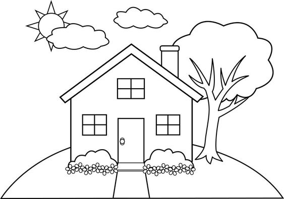 Download or print this amazing coloring page: Gingerbread House Coloring Pages Ideas | ThoughtfulCardSender.