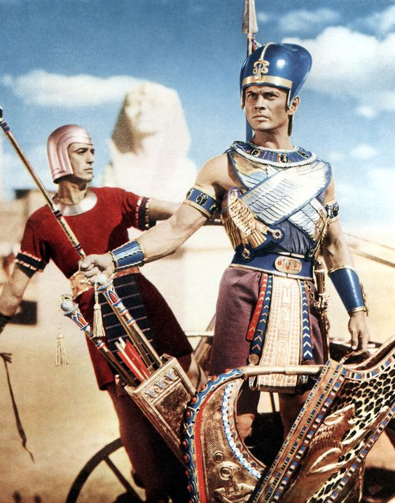 As played by Yul Brynner in one of film's greatest mindless spectacles, The Ten Commandments. Description from sodahead.com. I searched for this on bing.com/images
