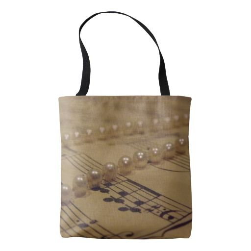 Music And Pearls Tote Bag