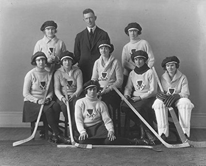 POSTER Physical Education Hockey group Montreal QC 1921 Quebec Canada Wall Art Print A3 replica