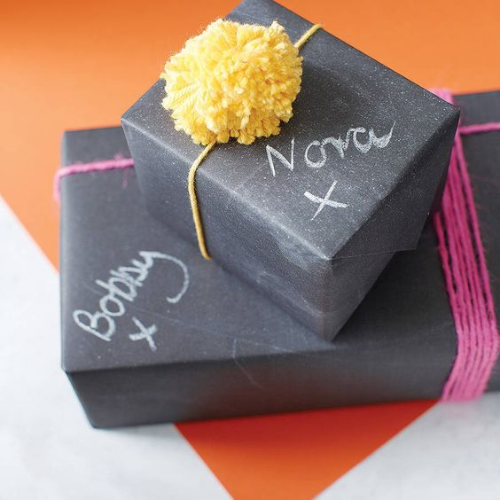 chalkboard gift wrap by newton and the apple | notonthehighstreet.com: