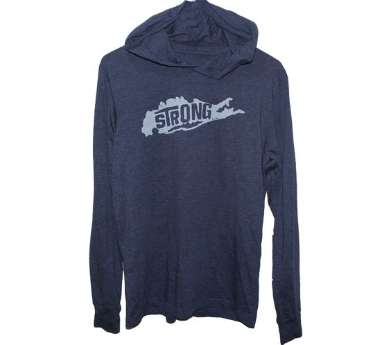 Heather Navy Island Strong Hoodie
