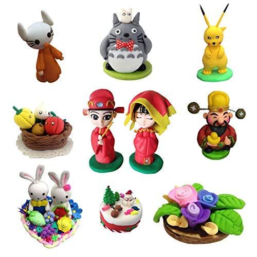 ifergoo Polymer Clay DIY Colored Clay Kit with Modeling Tools 32 Colors Oven Bake Modelling Clay Tutorials and Accessories