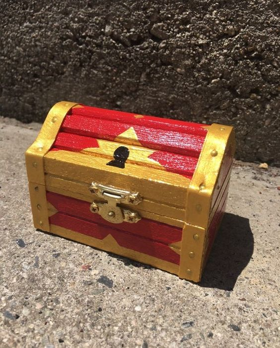 Kingdom Hearts Treasure Chest Jewelry Box With Images Treasure Chest Kingdom Hearts Treasures