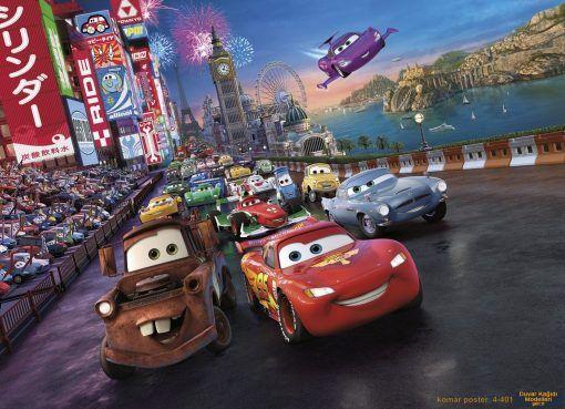 Komar Poster 4 401 Duvar Kagidi Modelleri Disney Cars Araba Yarisi Duvar