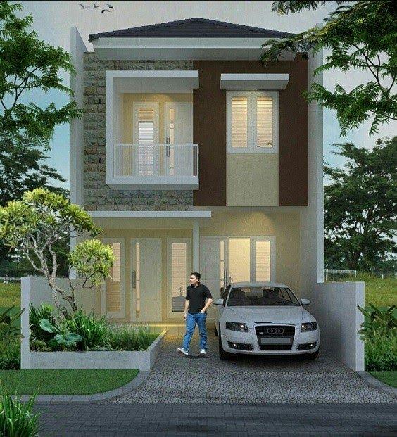 Desain Rumah Mungil Minimalis Modern 2 Lantai Cek Bahan Bangunan
