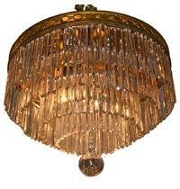 Antique Tiered Crystal Chandelier - French Circa 1930