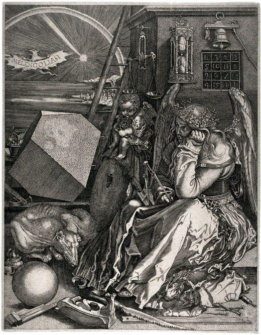 Albrecht Durer, Melancholia, copper engraving 1514   ART ...